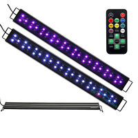 "AQUANEAT LED Aquarium Light Remote Control Color Changing Dimmable 24"" Fish Tank"