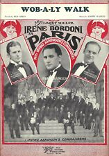 "Irene Bordoni ""PARIS"" Irving Aaronson Commanders / Cole Porter 1928 Sheet Music"