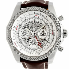 Breitling Bentley 04 GMT Auto Chrono 49mm Leather Tang Mens Watch AB043112/G774
