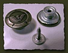 LOT 3  BOUTONS  * 17mm  * Spécial Jean à fixer * aspect vieil argent  button