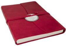 Fait /à la Main en Italie A5 Uni Pages LEATHERKIND Journal en Cuir Recycl/é Fiore Alezan