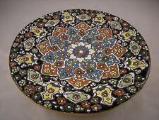 Persian Decorative Handmade Mina Kari Pottery Enameled Wall Hanging Plate