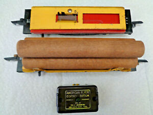 American Flyer S Gauge Late 1940s #717 & #715 Automated  Dump Cars Working Order