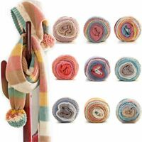 5 Strands 100g Colorful DIY Cotton Crochet Knitting Wool Yarn Hand-woven String