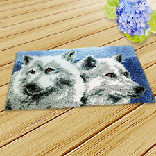 50x30cm Wolf Latch Hook Rug Embroidery Cross Stitch Kit For Diy Hand Knit Carpet
