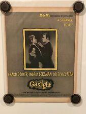 GASLIGHT Vintage Original Magazine Advertisement - 1944 - INGRID BERGMAN