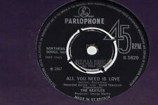 """THE BEATLES -All You Need Is Love / Baby, You're A Rich Man- 7"""" 45 Parlophone"""