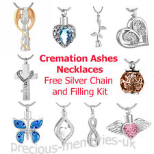 Cremation Ashes Urn Pendant - Keepsake Necklace - Funeral Memorial Jewellery