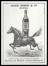 PUBLICITE  COGNAC JULES ROBIN & C°  / CHEVAL AU GALOP  ALCOOL ALCOHOL AD  1950