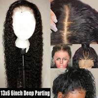 13x6 Lace Front Human Hair Wig Curly Brazilian Deep Part Pre plucked Baby Hair