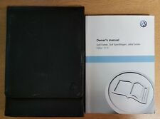 VW GOLF ESTAT JETTA ESTATE SPORTWAGEN HANDBOOK MANUAL WALLET 2009-2013  E-618