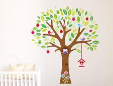 Owl en árbol Ramas Pájaros Infantil cuarto del bebé Enorme Decoración Pared
