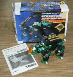 Vintage Boxed Tomy 1994 Zoids 2 Motorized Robot Toy - Cruncher