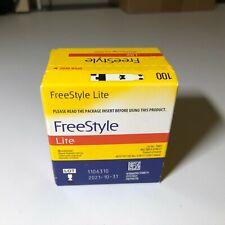 100 Freestyle Lite Diabetic test strips EXP 10/31/2021