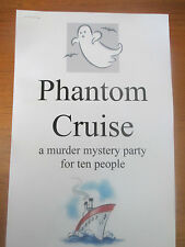 Murder Mystery Party Game for 10 people: Phantom Cruise - Buy one get one FREE!!