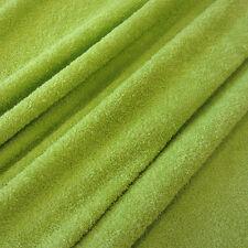 Stoff Meterware Baumwolle Frottee Frotté doppelflorig limette kiwi grün weich