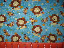 LIONS BUMBLEBEES DOTS COTTON FABRIC BTY