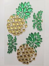 SELF ADHESIVE GEMS-PINEAPPLE DESIGN-ACRYLIC GEMS/GEM STONES CRAFT STICKERS
