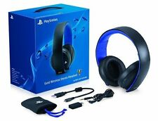 Sony PS4 Playstation Gold Wireless Stereo 7.1 Headset PS3 PS VITA PC - Jet Black