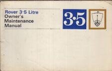 ROVER P5 3.5 LITRI Saloon Coupe Orig 1968 MANUTENZIONE HANDBOOK & Service buoni