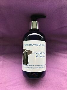 Shaving Oil 250ml - Cedarwood & Lime - 100% Pure & Natural
