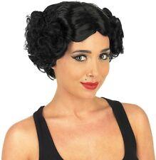 Hollywood Icon Wig Womens Black 1920s Curly Bob Fancy Dress