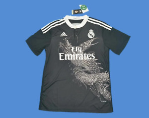 Real Madrid 2014 2015 Away Black Home Retro Soccer Jersey Football