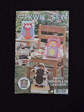 Monkey Monster Me Lunch Bags Kwik Sew Sewing Pattern by Kerstin Martensson 3925