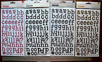 LINDSAY THICKERS - Pow Glitter Letter & Numbers 22-30mmHigh 4 Colour Choice L3m