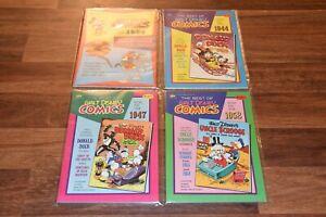 Lot 4 The Best of Walt Disney Comics 1934 1944 1947 1952 Golden Special Book 70s