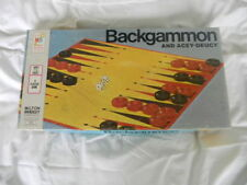 Complete Vintage 1973 Mb Backgammon & Acey Deucy Board Game #4319