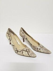 Woman Enzo Angiolini snake🐍 Print Heels Size 8 💋 FREE SHIPPING 📦!