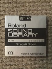 Genuine Roland Sound Library Chorus And Strings Quick Disks S9 S10