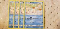 Pokemon TCG x4 Alolan Vulpix #30/156 Common SM: Ultra Prism Mint Water English