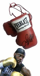 Autographed Mini Boxing Gloves Deontay Wilder