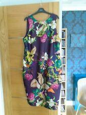new @  NEXT size 18 purple large floral dress...rp £ 35