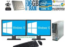 Fast Full Set Computer Core i5 SSD DESKTOP PC Dual Monitor Office trading 16GB