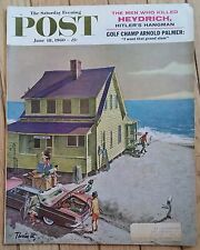 THE SATURDAY EVENING POST JUNE 18 1960 THORTON UTZ OCEANFRONT HOUSE PALMER