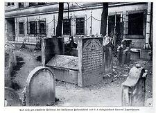Jüdische Begräbnisstätte Samuel Oppenheimer Wien Historische Aufnahme von 1909