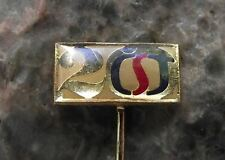 1973 Ceska Statni Televize CST Czech State Television 20th Anniversary Pin Badge