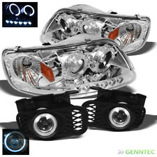 For 99-03 Ford F150 LED Pro Headlights+Halo Projector Fog Lamp+Switch+Bulbs