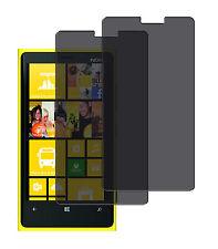 2 x Blickschutzfolie Nokia Lumia 920 Privacy Displayschutz Folie Antispy schwarz