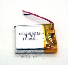 2pcs 3.7V 180 mAh Li-polymer Lithium Rechargeable 052025 for bluetooth mp3 mp4