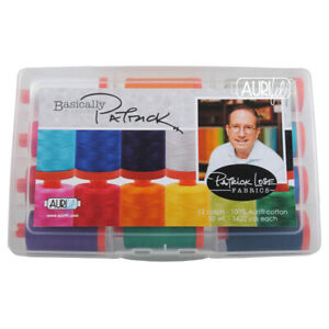 AURIFIL COLLECTION BASICALLY BLENDERS PATRICK LOSE 12 LARGE SPOOLS 50WT
