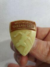 More details for rare! - tarzan club - 1950's - westworld badge - collectors item - rare!