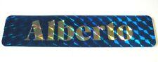 VECCHIO ADESIVO PRISMATICO ORIGINALE / Old Sticker NOME ALBERTO (9 x 2 cm)
