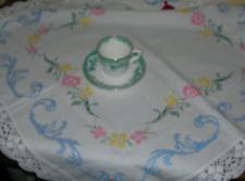 Handmade vintage linen tablecloth