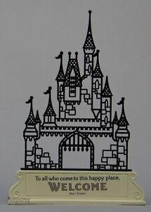 Hallmark Disney Castle Silhouette Happy Place Welcome Walt Disney Figurine NWT