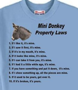 Donkey T Shirt - Property Laws  -------- Also Dog T Shirt Available