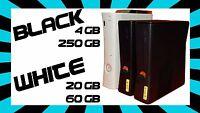 Microsoft Xbox 360 Console ONLY ✓ BLACK✓ 4GB or 250GB✓ WHITE✓ 20GB or 60GB ✓